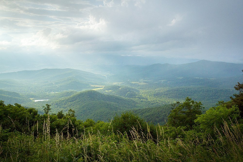 View of the mountains in Shenandoah National Park