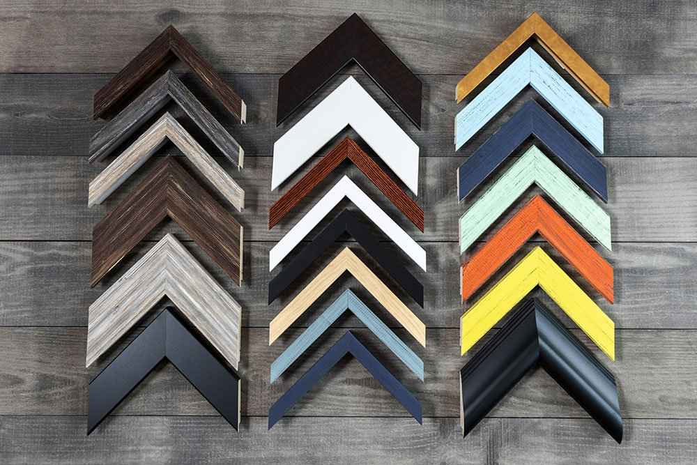 A variety of different frames offered by Beyond the Fence