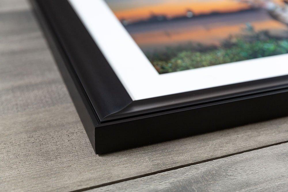 close up view of a custom frame
